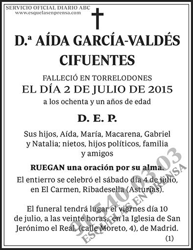 Aída García-Valdés Cifuentes